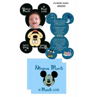 Invitatie botez Mickey si Minnie Mouse