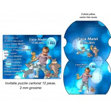 Invitatie Aniversara Puzzle Tom Si Jerry