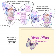 Invitatie Forma Fluture Si Cutiuta Pillow