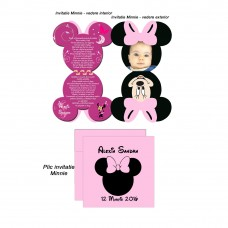 Invitatie Forma Minnie Mouse