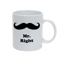 Cana alba personalizata, Mr. Right