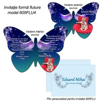 Invitatii Botez Fluture
